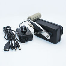 Outdoor Portable Phone Charger Civil Hand Crank Generator Small Dynamo with DC-DC Converter