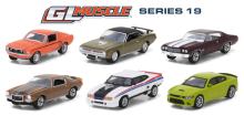 Green Light 1:64 GL Muscle Series 19 - 6-Piece SET boutique alloy car toys for children kids toys Model original box(China)