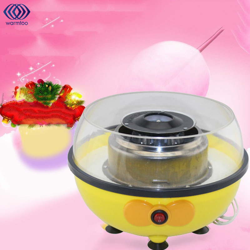 Electric Cotton Candy Machine With Measuring Spoon Bamboo Stick Floss Fluffy Sugar Children Girl Boy Gift 220V/110V<br>