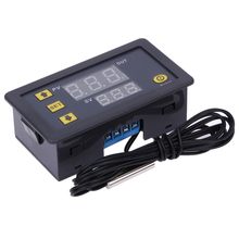 -55-120 Degree Digital Temperature Controller DC 12V Thermostat Temperature Control Red And Blue Display