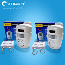 Etiger Wireless PIR/Motion Sensor Alarm+2 Remote Controls Local Alarm Burglar 105db Siren Local Alarm System for Home Security(China)