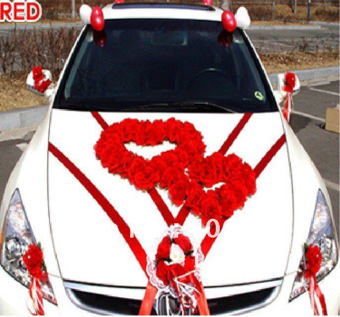 Free Shipping By Ems To Most Countries 1 Set Lot Wedding Car Exterior