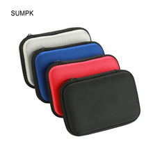 SUMPK 2pcs/lot 160x110x35mm External Battery Cases Portable EVA Mobile Power bank Storage Case Shockproof Carrying Bags(China)