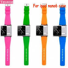 Free shipping Wrist Strap Watch Band for iPod nano 6 for ipod nano6 With Retail Package 9 colors for nano6 case funda coque(China)