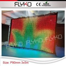 best factroy price good hot definition P90mm video led dj curtain screen 3x5m led backdrop wall