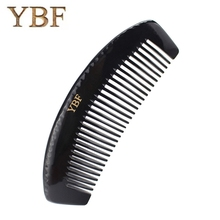 YBF Widen Hair Brush Pure handmade Natural Black Buffalo Horn Thicken Massage Combs Head Blood Circulation Beauty Special Items(China)