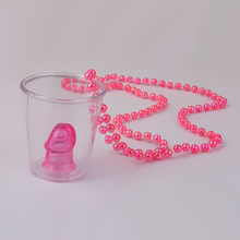 Hot Sale1pcs Hen Night Party Games Shot Glass On Necklace Bachelorette Party Fun Drinking Game Event Party Supplies FreeShipping(China)
