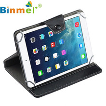 Good Sale Binmer Universal Crystal PU Leather Stand Cover Case For 7 Inch Tablet PC BK Free shipping Apr 28