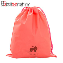 BalleenShiny 1Pcs Foldable Cartoon Nylon Drawstring Tote Travel Storage Bag Organizer Case For Large Capacity Gift Storage Tool