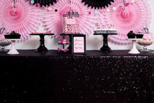 230cm x 310cm  Black Sequin Tablecloth,wholesale Wedding Beautiful Sequin Table Cloth / Overlay /Cover
