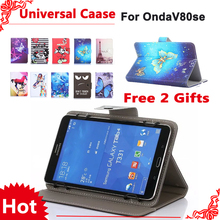 "Newset Universal fashion case For Onda v80 se/ V80 Octa Core v80se 8"" tablet pc Protective Cover + free 2 gifts"