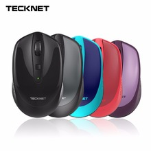 TeckNet Omni Mini 2.4G Wireless Mouse, 18 Month Battery Life, 3 Adjustable DPI Levels: 2000/1500/1000 DPI, Nano Receiver(China)