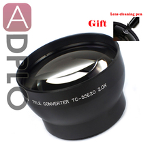 55mm 2.0X Tele conversion Lens  Suit For Canon Nikon Sony Pentax Camera Lens (Black) with cleaning Pen