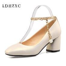 LDHZXC 2018 women pumps big size 10 12 Women Shoes Mary Jane Ladies High  Heels White 234eda08cb75