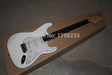 . Free shipping 2015 Guitar Factory F Stratocaster White Custom Shop Electric Guitar Ebony Fingerboard