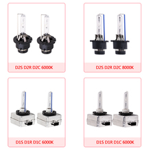 2PCS D1S D1R D1C D2S D2R D2C Socket HID Xenon Lamp Headlight Bulbs White 6000K 8000K 12V 35W Fog lights Car Styling Light Cars