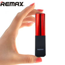 REMAX Luxury Lipstick Power Bank 2400mAh Portable Mini Powerbank External Mobile Battery Charger Backup For iPhone Samsung PC(China)