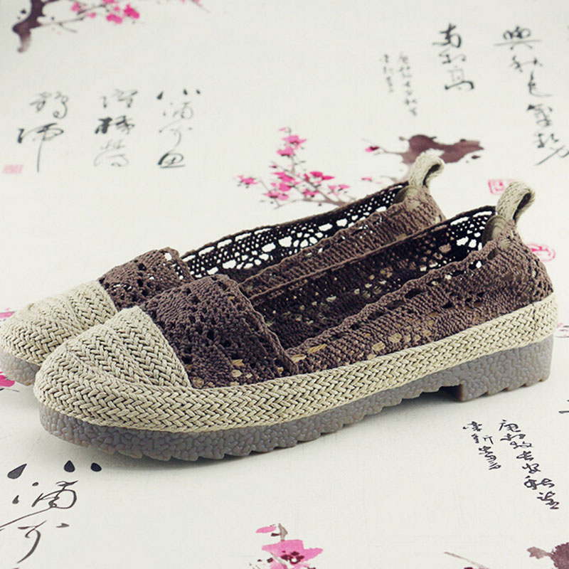 spring and autumn embroidered shoes old Beijing Zapatos De Mujer slip tendon at the end of low-heeled shoes woman a140<br><br>Aliexpress
