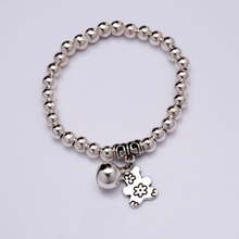 NEW  Bear Bell Charm Bracelet Silver plated beads Bracelet 2016 Women Fashion jewelry