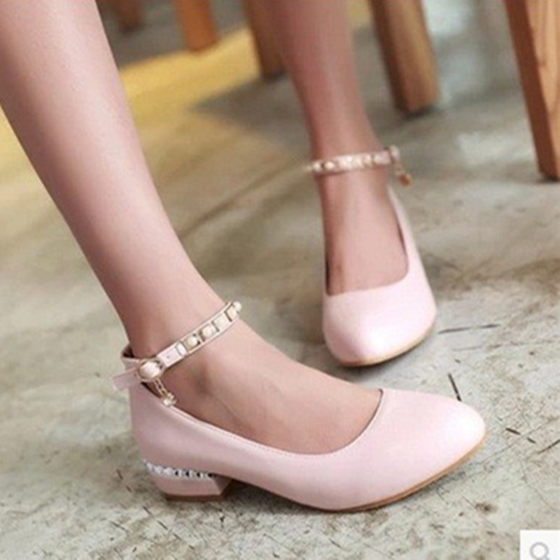 Ladies hot selling big size11 12 buckle-strap rhinestone soft leather cover heels square low high heel women Sandals shoes Pumps<br><br>Aliexpress