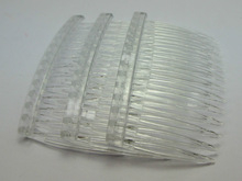 20 Clear Plastic Hair Clips Side Combs Pin Barrettes 70X40mm for Ladies