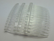 20 Clear Plastic Hair Clips Side Combs Pin Barrettes 70X40mm for Ladies(China)