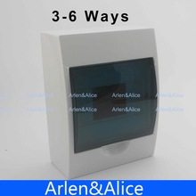 3 - 6 ways Plastic distribution box for circuit breaker indoor on the wall(China)
