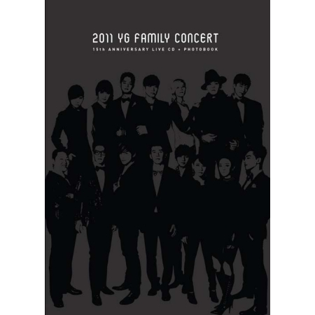 15TH ANNIVERSARY 2011 YG FAMILY CONCERT LIVE + PHOTO BOOK RELEASE DATE 2012.04.17  KPOP<br>