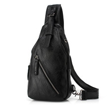 2017 Hot Sale New Fashion High Quality Leather Chest Bag Casual Men Travel Shoulder Messenger Bags Male Cross Body Tote Bag