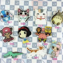 Min Order $5(Mix Order) Brooch Pins Fashion Cartoon Smiling cat Brooches Acrylic nice Princess Totoro Lucky Cat Brooch XZ30