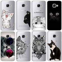 Coque For Samsung Galaxy S5 S6 S7 Edge S8 Plus A3 A5 2016 2015 2017 prime J1 J2 J3 J5 J7 Case TPU Silicon Cover Cat Note 8(China)