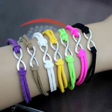 SL136 Various Colors Fashion Vintage Pure Hand Infinity Bracelets Jewelry Statement Charm Bracelet HOT 2017