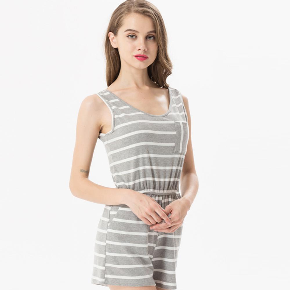 Siskakia mody młodzieżowej Letnie nastolatek dziewczyny Playsuit Przebrania paski patchwork slim fit krótkie elegancki 100% bawełna odzież różowy 19