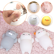 Kawaii Squishy Bread Mini Rabbit Sea Bear Chicken Cat Mouse Footprint Cotton Candy Slow Rising Phone Strap kid squishy toys Xmas
