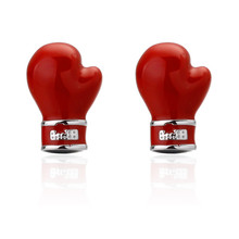 Red Boxing Gloves Shape Cufflinks for Mens Shirt Novelty Enamel Cuff links High quality SAVOYSHI Brand Jewelry Manufacturers ret(China)