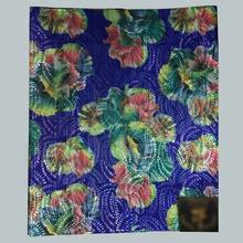 African Super Jubilee Sego Head Tie Wrap, Flower design Head Gear Nigeria Sego headtie gele & wrapper in royal blue 2pcs LXLH3-6(China)