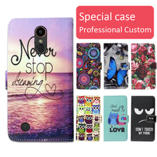 Buy Fashion cartoon printed flip wallet leather case LG K20 plus Card Slot phone bag book case,free gift for $4.24 in AliExpress store