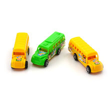 1PCS Randomly students Shuttle Back to school bus plastic alloy car Child toy car model American school bus(China)