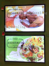 Indoor Wall Mounted Clip Aluminum Frame Advertising LED Menu Light box for Pizza shop/Restaurant/Cafe/Fast food Store/Shop Mall