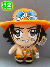 "NEW arrival 12"" Japanese Anime One Piece Plush Toy Cute Portgas D Ace Dolls Movies & TV Stuffed Toys"
