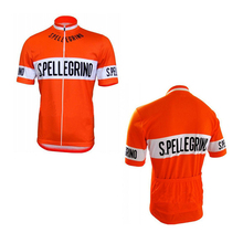 Orange Quick-Dry Sports Jersey Cycling Clothing GEL Pad Bike Wear short-sleeve cycling jersey custom made Outdoor Sports jersey