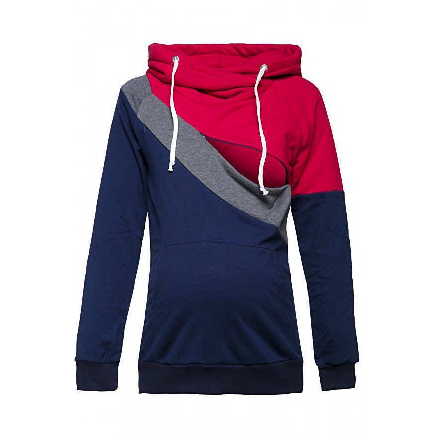 Plus-Size-Pregnancy-Nursing-Long-Sleeves-Maternity-Clothes-Hooded-Breastfeeding-Tops-Patchwork-T-shirt-for-Pregnant (4)