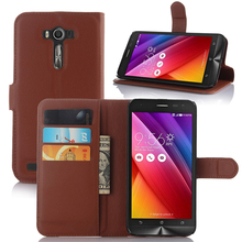 Luxury Flip Wallet PU Leather Case For ASUS ZenFone 2 Laser ZE550KL ZE551KL Z00LD Z00TD Z00TDA 5.5 Inch Case Cover With Stand(China)
