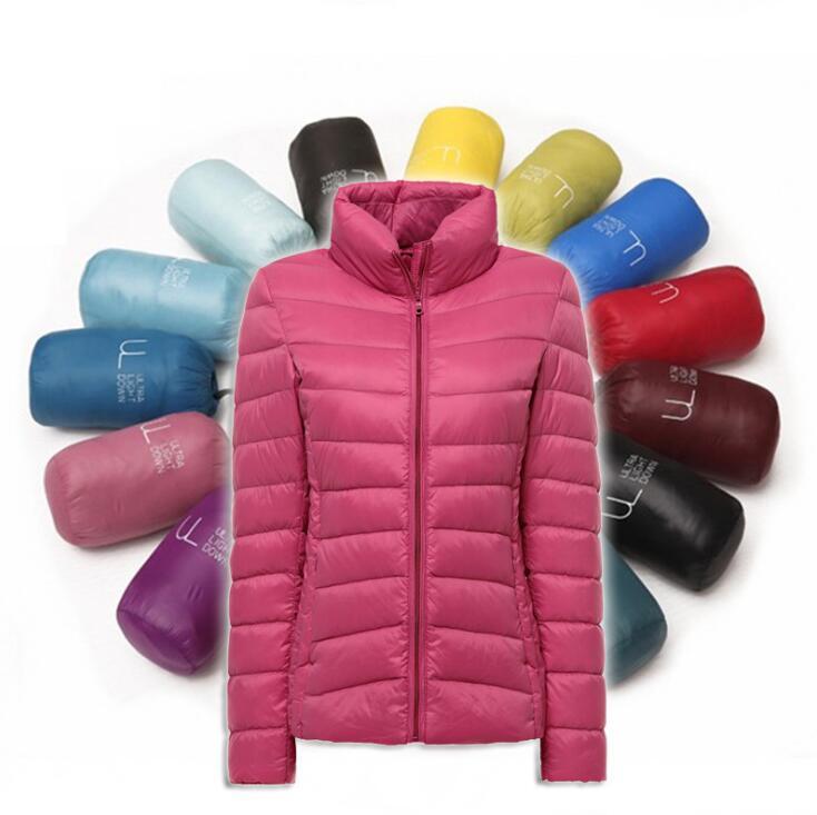 kraifls Women Ultra Light Winter Jacket Women Parkas Female Women Slim Long Sleeve Parka Zipper Coats 2017 Pockets SolidÎäåæäà è àêñåññóàðû<br><br>