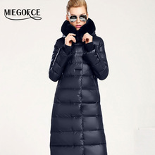 Women Coat Jacket Medium Length Woman Parka With A Rabbit Fur Winter Thick Coat Women MIEGOFCE 2017 New Winter Collection Hot(China)