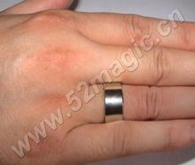 Free shipping! Super Strong Magnetic Wizard PK Ring Magic Cool Silver (Size 18/19/20mm) (ring box included)