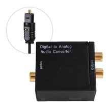 Dac Digital Optical Coaxial /Toslink To Analog RCA Audio Converter Connector USB Power Line Fiber Cable