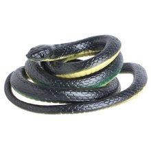 130cm Realistic Plastic Tricky Toy Fake Snakes Garden Props Joke Prank Halloween Horror Toys for Adults PP Plastic Snake New(China)