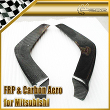 FOR Mitsubishi Evolution 10 EVO X V-Style Carbon Fiber Front Splitter Cover