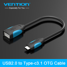 Vention New Hot USB 2.0 to Type-C 3.1 OTG Cable Adapter For S4/S3 i9300 HTC Sony Android Tablet PC MP3/MP4 Smart Phone